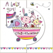 Rachel Ellen Congratulations A Baby Girl Card