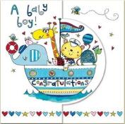 Rachel Ellen Congratulations A Baby Boy Card