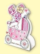 Rachel Ellen Baby Girl Stand Up Card
