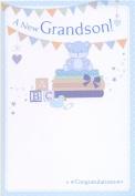 A New Grandson! Congratulations - New Baby Congratulations Card
