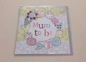Hand Finished Mum To Be Card - Perfect for a baby shower!