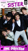 One Direction Birthday Card - To A Special Sister