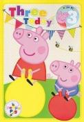 Peppa Pig Age 3 Badge Birthday Card