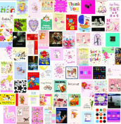 60 Wholesale Mixed Bulk Selection Pack of Birthday / Greeting Cards Every Occasion Cards