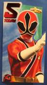Power Rangers Age 5 Birthday Card