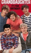 One Direction - Granddaughter Birthday Card