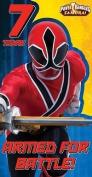 Power Rangers Samuari Age 7 Birthday Card