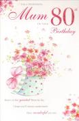 Mum 80th Birthday, Birthday Card