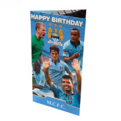 MANCHESTER CITY BIRTHDAY CARD - 11/12 SQUAD - GENERIC