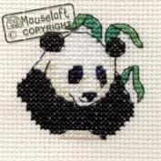 Mouseloft Mini Cross Stitch Kit - Panda, Stitchlets Collection