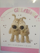 30cm x25cm LARGE Birthday card - BOOFLE Card - To my gorgeous girlfriend