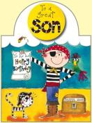 Rachel Ellen Son Pirate Birthday Card