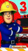 Fireman Sam FS011 Age 3 Birthday Card