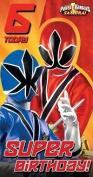 Power Rangers Samurai Age 6 Birthday Card