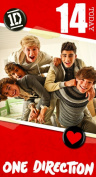 One Direction Birthday Card - Age 14/14th Birthday Card