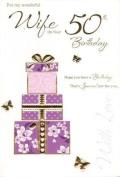wife 50th birthday, Birthday Card