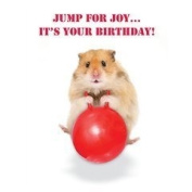Hamster on Spacehopper Jump for joy...it's your Birthday card