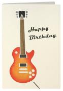 Birthday Guitar Retro Press Greeting Card