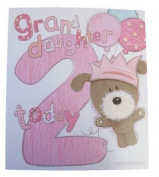 Lots Of Woof Junior Granddaughter 2nd Birthday Card 28cm x 24cm Code 280122