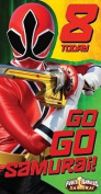 Power Rangers Samuari Age 8 Birthday Card
