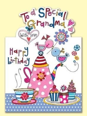 Grandma Tea & Cakes Birthday Card
