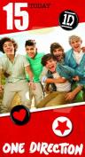 One Direction Birthday Card - Age 15/15th Birthday Card