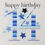 Claire Giles 14th Birthday Card - Boy