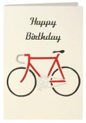 Birthday Bike Retro Press Greeting Card