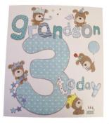 Lots Of Woof Junior Grandson 3rd Birthday Card 28cm x 24cm Code 280128