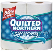 Qulited Northern Soft & Strong Double Roll Unscented Bathroom Tissue 242 2-Ply 4 roll