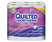 Quilted Northern Ultra Plus Toilet Paper, White, 18 Double Rolls