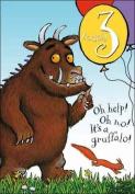 Woodmansterne The Gruffalo 3rd Birthday Card Card - Gruffalo Three