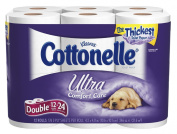 Cottonelle Ultra Double Roll, (2X Regular),2 Ply, White-12pk