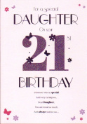 For A Special Daughter On Your 21st Birthday - Large Card Pink Dress