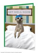 Get Well Soon Meerkat Card