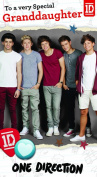 One Direction Birthday Card - Granddaughter It's Your Birthday!