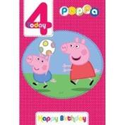 Large Peppa Pig Age 4/4th Happy Birthday Card