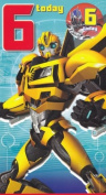 Transformers - Age 6 Birthday Card With Badge - 6th