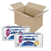 Cottonelle Clean Care Toilet Paper, Double Roll, 24 Rolls, Pack of 2