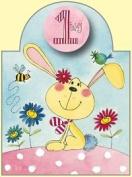 Rachel Ellen Age 1 Girl Die Cut Birthday Card