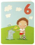 James Ellis Boy Football Age 6 Birthday Card