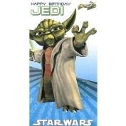 Star Wars Clone Wars Die-Cut Yoda 'Happy Birthday Jedi' Card No Badge SW352/1