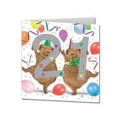 Guinea Pig Happy 21st Birthday square card 21 twenty one Crazy Gang Guinea Pigs