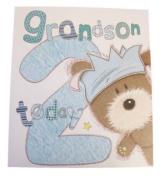 Lots Of Woof Junior Grandson 2nd Birthday Card 28cm x 24cm Code 280123