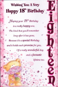 18th Birthday Card - Wishing You A Very Happy 18th Birthday - FREE UK SHIPPING