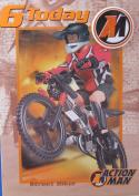 6 Today Action Man Street Biker Birthday Badge Card