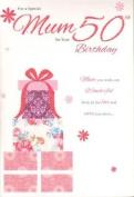 Mum on your 50th Birthday, Birthday Card