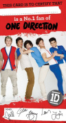 One Direction Birthday Card - Number 1 Fan Card with Stickers
