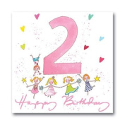 Sophie Allport Greeting Card - Happy 2nd Birthday Girl