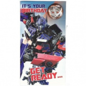 Transformers - BumbleBee Birthday Card With Badge